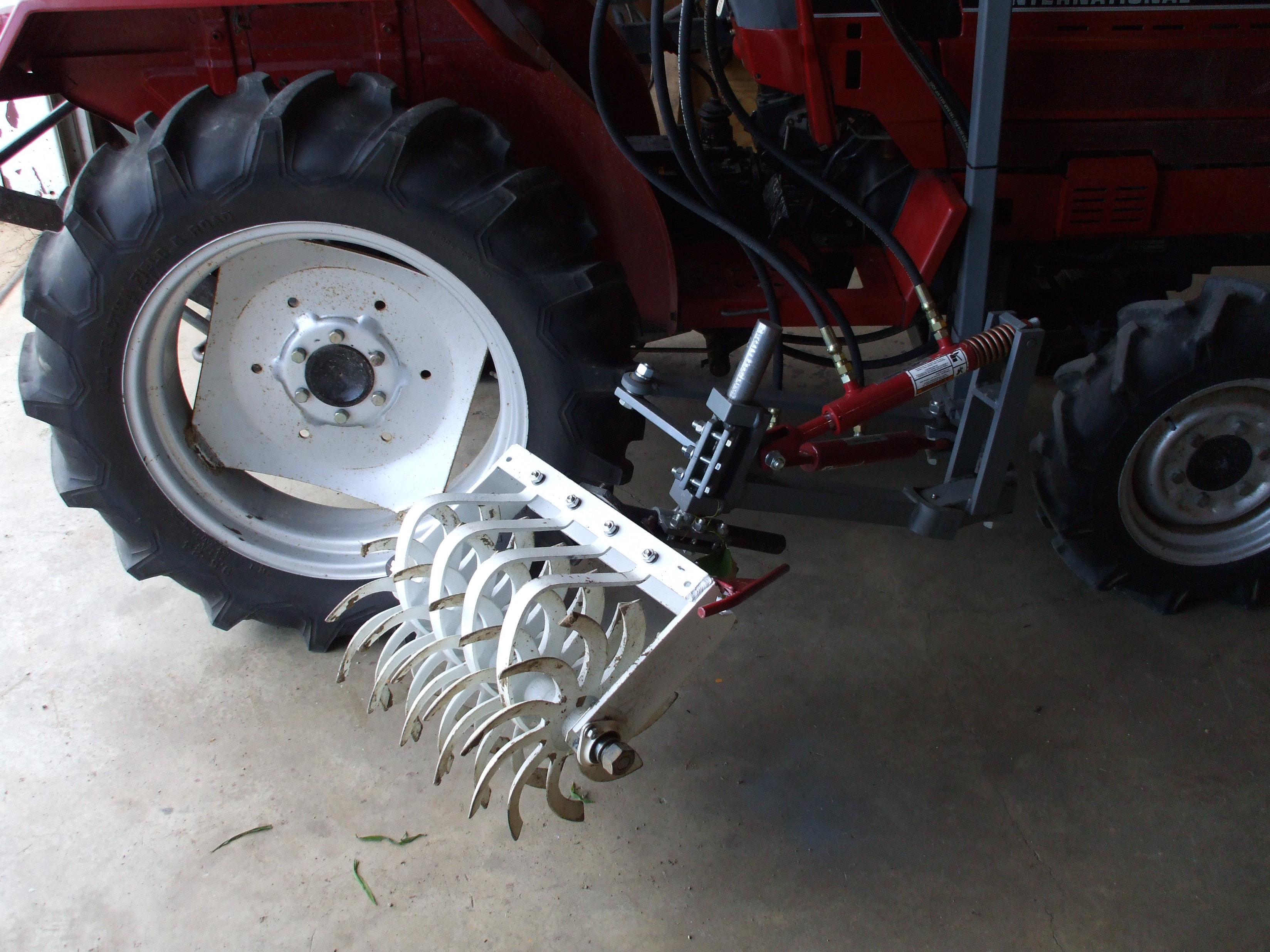 Ground Driven Rotary Vineyard Cultivator